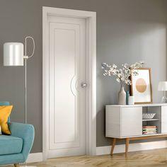 Six Folding Doors & Frame Kit - Shaker 4 Pane - Clear Glass - White Primed Grey Internal Doors, Internal Folding Doors, Grey Doors, Oak Doors, Wooden Doors, Sliding Glass Door, Sliding Doors, Primed Doors, Door Fittings
