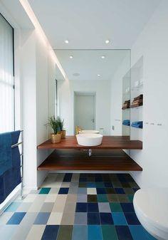 joli interieur dans la salle de bain leroy merlin, design pas cher