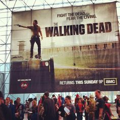 Walking Dead banner at NYCC. #nycc #walkingdead