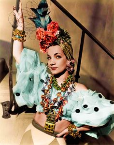 Carmen Miranda and Her Incredible Tropical Hats. Iconic historical people party ideas