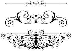 Victorian Scrolls and Ruleline Royalty Free Stock Vector Art Illustration