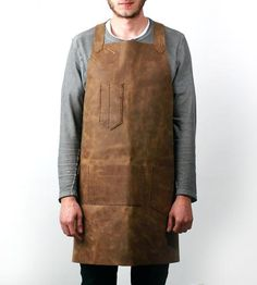 Leather Workshop Apron by Scarr available at Withal now. The place to get inspired goods by local makers. Modern Gentleman, Gentleman Style, Woodworking Apron, Cafe Racer Build, Leather Apron, Custom Aprons, Leather Workshop, Bicycle Maintenance, Gq Style