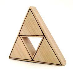 Legend of Zelda Triforce Wooden Baby Toy