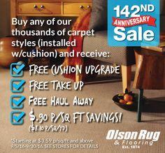 Chicago's Olson Rug 142nd Anniversary Carpet Sale