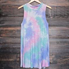 to dye for t shirt tank dress - purple tie dye - shophearts - 1