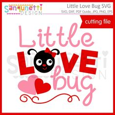 Sanqunetti Design: Little Love Bug SVG cutting files! Use it with your Cricut, silhouette or other cutting machines! Valentines Day Clipart, Love Bugs, Planner Stickers, Cutting Files, Painted Rocks, Applique, Cricut, Paper Crafts, Clip Art