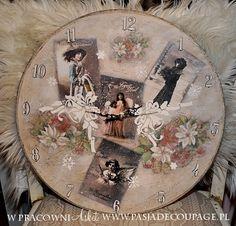 shabby retro vintage clock