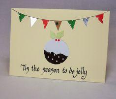 Christmas card, christmas pudding card, xmas pudding, christmas pudding…