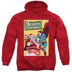DC Comics Superman Christmas Hoodie Sweatshirt