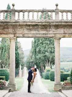 Intimate Tuscan Wedding + Florence Engagement Gallery - Style Me Pretty - Dress by Essense of Australia
