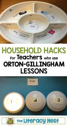 Household Hacks For Orton-Gillingham Lessons - The Literacy Nest Household hacks for teachers who use Orton-Gillingham lessons. The Literacy Nest Dyslexia Activities, Dyslexia Strategies, Dyslexia Teaching, Learning Disabilities, Multiple Disabilities, Listening Activities, Preschool Activities, Wilson Reading Program, Reading Specialist