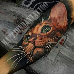 3D Cute cat sleeve tattoo - 100+ Examples of Cute Cat Tattoo