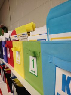 Great ideas for organizing paperwork for music classes!  Colors can correspond with the colors from our books #elementarymusic #classorganization