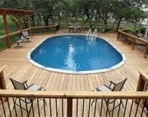 I want picture of above ground pool decking - Bing Images