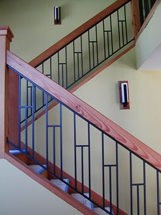 Inventive Staircase Design Tips for the Home – Voyage Afield Steel Railing Design, Staircase Railing Design, Interior Stair Railing, Modern Stair Railing, Staircase Handrail, Balcony Railing Design, Iron Stair Railing, Modern Stairs, Metal Balusters