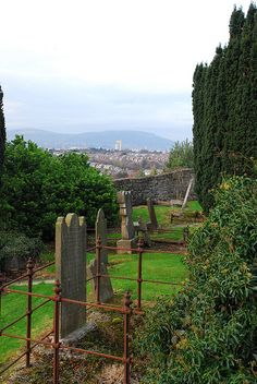 Graves and surrounds in Knock Burial Ground by belfastcitycouncil, via Flickr