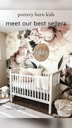 Sabrina Soto, Baby Registry Must Haves, Temporary Wallpaper, Cotton Texture, Boho Baby Shower, Modern Wallpaper, Little Girl Rooms, Pottery Barn Kids, Beautiful Bedrooms