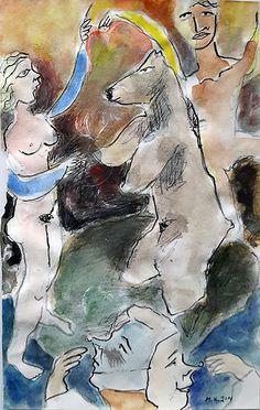 """""""1ο Νουμερο με  arkouda"""" για μενα ολη η  ουσια ειναι στο προσωπο στην κατω πλευρα του εργου... Painting, Art, Art Background, Painting Art, Kunst, Paintings, Performing Arts, Painted Canvas, Drawings"""