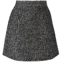 Ermanno Scervino Tweed a-Line Mini Skirt (2 640 PLN) ❤ liked on Polyvore featuring skirts, mini skirts, bottoms, black, black skirt, tweed mini skirt, black a line mini skirt, black miniskirt and short skirts