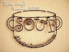 宮崎市ワイヤークラフト教室「はりがね屋ホショ。」:「soup」さん1周年記念 3d Pen, Wire Crafts, Wire Art, Projects To Try, Jewelry, Ornaments, Billboard, Jewlery, Jewerly