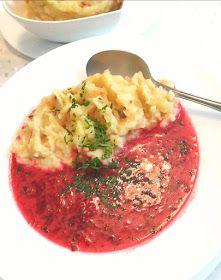 Andzia Pichci: Barszcz zabielany z tłuczonymi ziemniakami Guacamole, Soup Recipes, Ethnic Recipes, Food, Meat, Eten, Meals, Diet