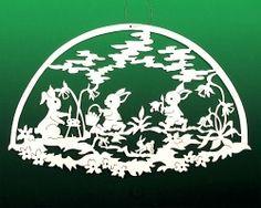 Fensterbild Ostern Hasenwiese