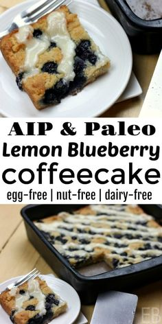 egg meals AIP Lemon Blueberry Coffeecake is one of the best AIP baked goods! Enjoy this egg-free, nut-free and dairy-free treat for breakfast, snack or dessert. Pumpkin Custard Pie Recipe, Paleo Pumpkin Pie, Custard Recipes, Mug Cakes, Dairy Free Recipes, Paleo Recipes, Real Food Recipes, Gluten Free, Lactose Free