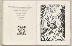 Derain, woodcut in L'Enchanteur pourrissant, by Guillaume Apollinaire, 1909