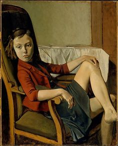 Thérèse  Balthus (Balthazar Klossowski)  (French, Paris 1908–2001 Rossinière)  Date: 1938 Medium: Oil on cardboard mounted on wood