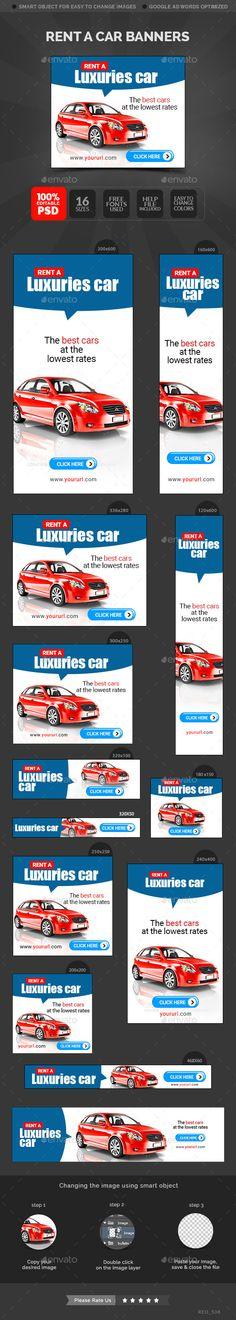 Car Rental Banners Template #design Download: http://graphicriver.net/item/car-rental-banners/12594328?ref=ksioks