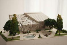 Wooden Restaurant - Perancangan Arsitektur 1 Architectural Model by : Ge