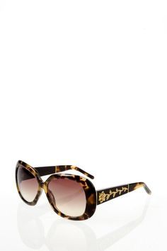 b2e54a5247 LUXURIOUS TORTOISESHELL SUNGLASSES WITH GOLD FLORAL INLAY   Oscar de la  Renta Tortoise Shell Sunglasses