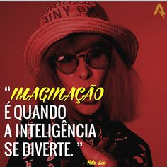 Imaginação é quando a inteligência se diverte. – Rita Lee