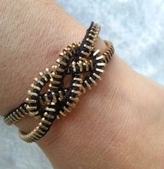 Knotted Up Zipper Bracelet by ZipperChic on Etsy, $6.00