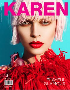 Karen Magazine # 13 / Model: Lauren Rippingham / Photography by Mikael Wardhana / Stylist Michael Azzolini / Hair by Michele McQuillan / MUA by Claire Thomson Pastel Hair, Pink Hair, Color Style, Color Red, Hair Color, Colour, Types Of Portrait, Fashion Cover, Magazine Articles
