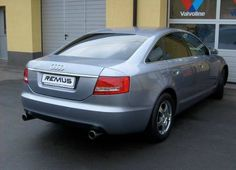 """REALIZACJA: Audi A6 C6 Kolejna """"zaległa"""" realizacja! Tym razem przedstawiamy Audi A6, któremu zdecydowanie brakowało sportowego brzmienia. W aucie zamontowaliśmy więc dwa sportowe tłumiki tylne z chromowanymi końcówkami. Dzięki temu limuzyna Audi zyskała rasowe brzmienie i sportowy wygląd dzięki atrakcyjny zakończeniom.  Remus Polska http://www.remus-polska.pl/"""