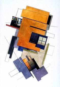 Ginny Herzog - Dimension Series (Architectural Collage) via artist's board http://www.pinterest.com/n2rt/my-art/
