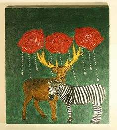 Hey, I found this really awesome Etsy listing at https://www.etsy.com/listing/558597877/deer-and-zebra-and-roses