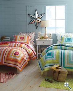 Shared Kids Room, love this as tween girls bedroom Boy And Girl Shared Bedroom, Shared Rooms, Girl Room, Girls Bedroom, Extra Bedroom, Bedroom Ideas, Bedrooms, Beach House Bedroom, My New Room