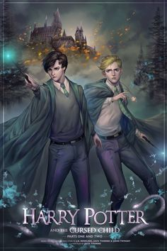 Albus Potter and Scorpius Malfoy, Slytherin students with courage of Gryfindor and kindness of Hufflepuff