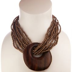 Big Chunky Necklaces Fashion Jewelry   Fashion Necklace with Chunky Wooden Drop - The UK's Online Chunky ...