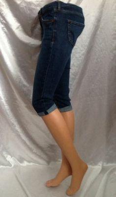 Hollister Women 1 25 Skinny Cropped Capri Jeans Dark Denim Blue 20 Abercrombie Capri Jeans, Hollister Clothes, Google Plus, Skinny, Diva Fashion, Dark Denim, Betsey Johnson, Halloween Costumes, Angels