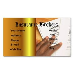 203 Best Auto Insurance Business Cards Images On Pinterest In 2019