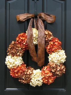 Thanksgiving Wreaths, Autumn Wreaths, Fall Wreath, Fall Decor, Front Door Wreaths, Holidays, Oktoberfest, Harvest. $105.00, via Etsy.
