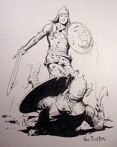 Hal Foster Prince Valiant Recreation By Angel Gabriele Comic Art