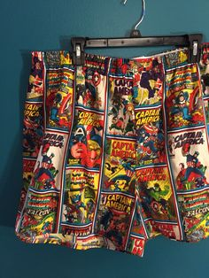 Captain America Boxers - Available in any fabric - www.etsy.com/shop/foureyedgirl