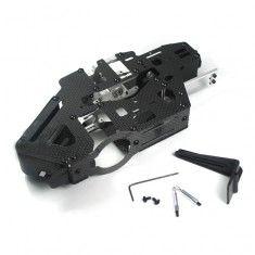 RioRand Carbon Fiber Main Frame Set Assembly for Align T-rex 450 Pro Helicopter (Belt Version)
