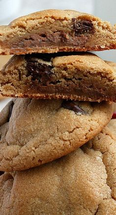 Peanut Butter, Chocolate, and Caramel Cookies