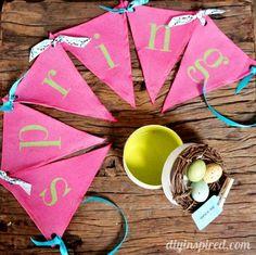 DIY Easter : DIY Spring Bunting and Gift Box Set