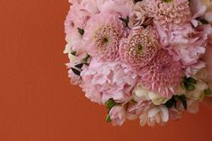 Bridal bouquet with dahlias and peonies